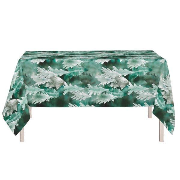 joulupöytään pöytäliina vihreä
