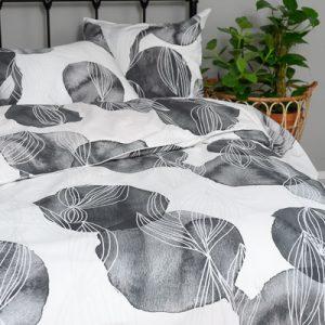 Makuuhuoneen harmaa pussilakanasetti