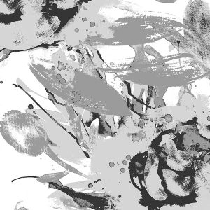 Vilpolan Aamuhetki-kangas, väriltään harmaa. Vilpolan kevät/kesä 2020-mallisto.