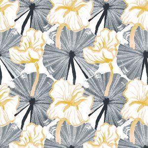 Vilpolan Fish Pond-kangas, väriltään keltainen. Vilpola kevät/kesä 2020-mallisto.