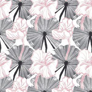 'Vilpolan Fish Pond-kangas, väriltään vaaleanpunainen. Vilpolan kevät/kesä 2020-mallisto.