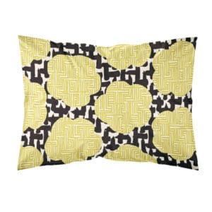 kotimainen tyynyliina, keltainen