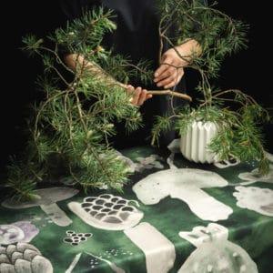puuvillapöytäliina, Vilpola, vihreä