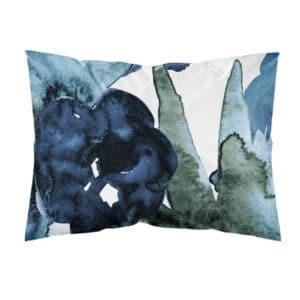 laadukas sininen tyynyliina