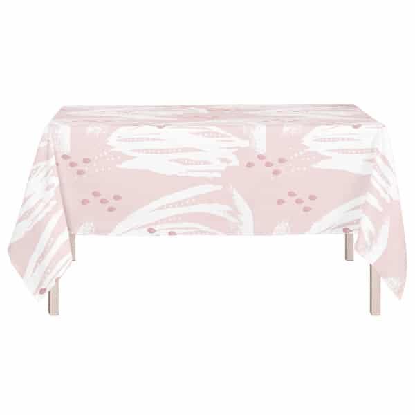 pöytäliina 150x260 cm, vaaleanpunainen
