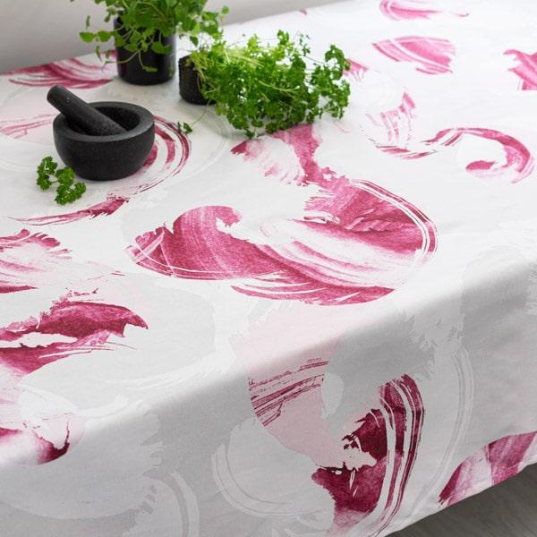 puuvillapöytäliina, pinkki