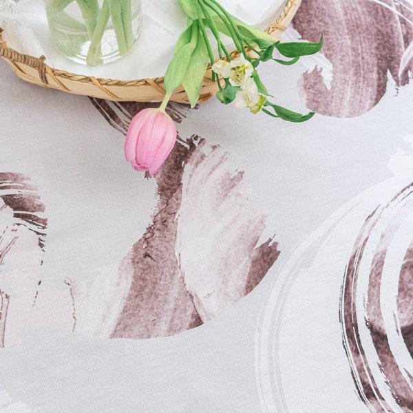 puuvillapöytäliina, roosa