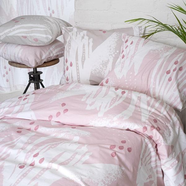vuodevaatteet, vaaleanpunainen Tuokio pussilakanasetti