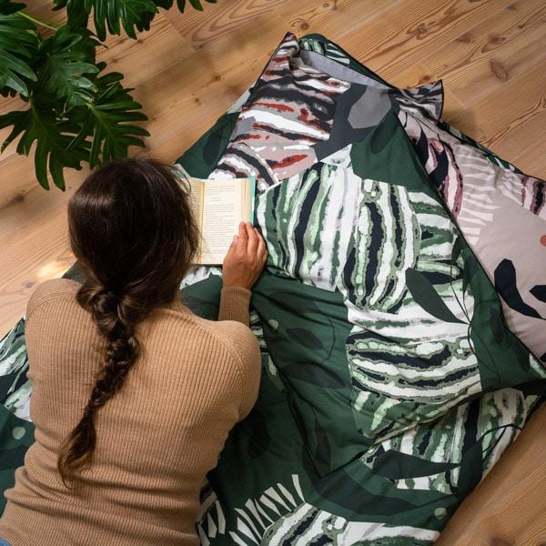 kotimainen tyynyliina, vihreä