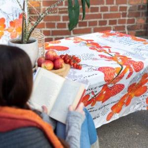 puuvillapöytäliina, oranssi