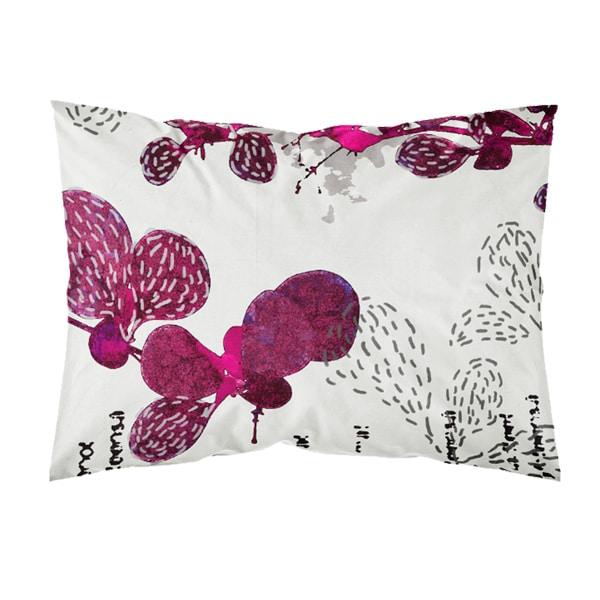 Suomessa valmistettu tyynyliina, väri purppura