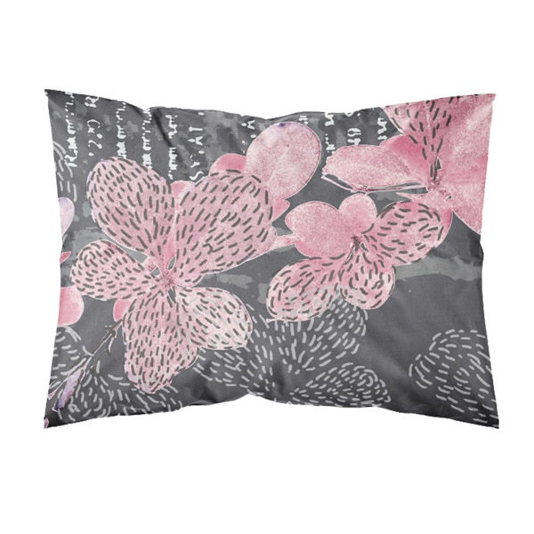 Suomessa valmistettu tyynyliina, väri roosa