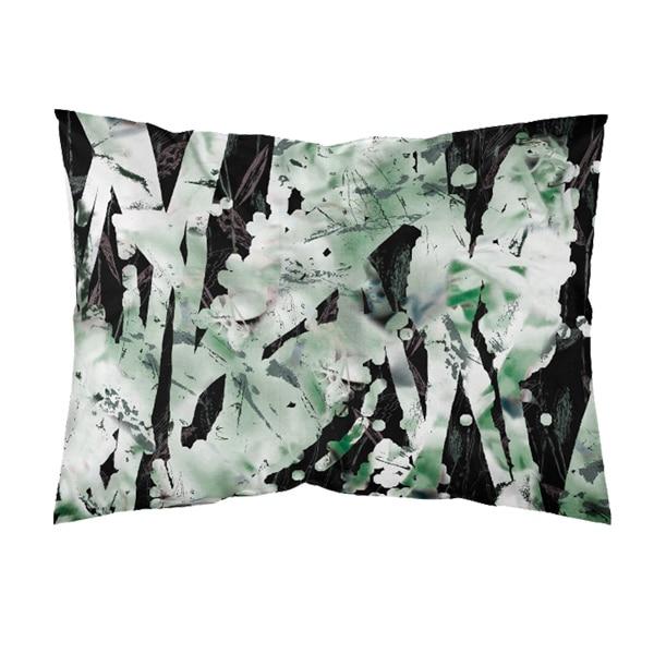 värikäs tyynyliina, vihreä