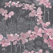 Jälki-kangas, roosa